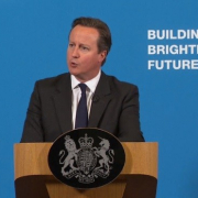 David Cameron in Runcorn for a speech on families