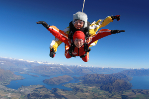 Photo of a charity tandem skydive