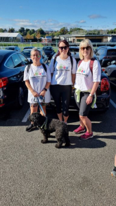 3 team members before the Charity Walk